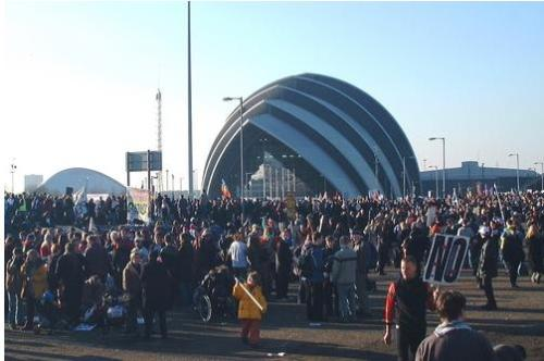 Photo by John Goodall - Demonstration against the war in Iraq, Scottish Exhibition Centre, Glasgow, 15 February 2003
