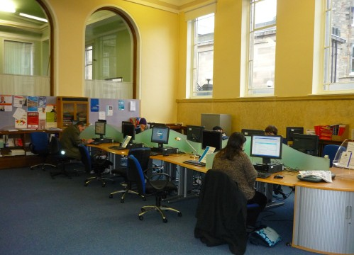 Leith Library's computer centre