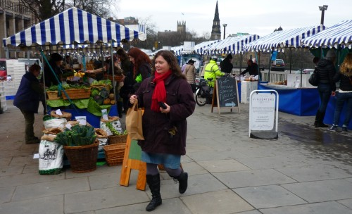Edinburgh farmers Market on the ground