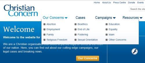 Christian Concern's Concerns