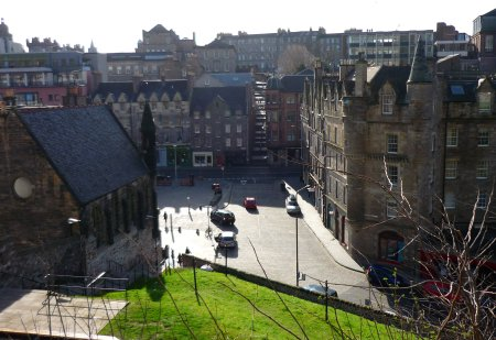 Grassmarket, Edinburgh, Granny's Green steps