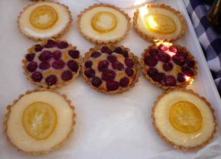 My Jam tarts (not actually mine) at Edinburgh Farmer's Market