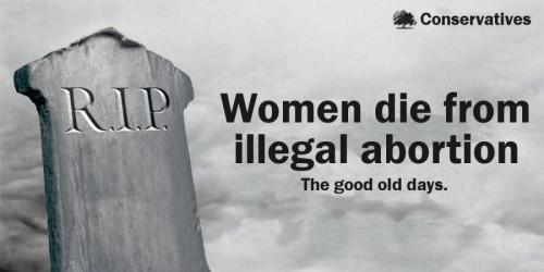 Illegal abortion kills. The good old days.