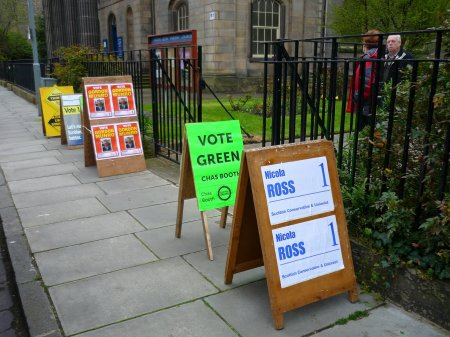 North Leith Parish Church on Polling Day Vote2012