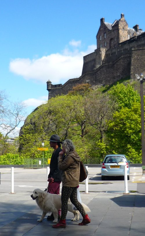 Edinburgh Castle from the farmer's market