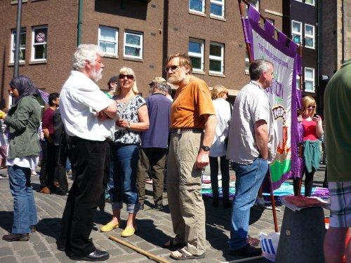 The anti-SDL rally in the Grassmarket