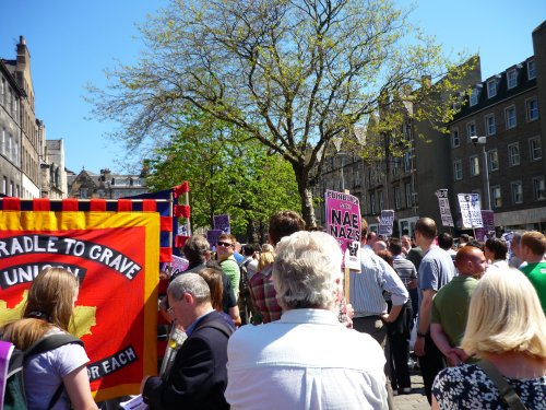 The anti-SDL rally in the Grassmarket