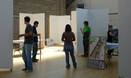 The Sustainable Design Students at Out of the Blue Drill Hall