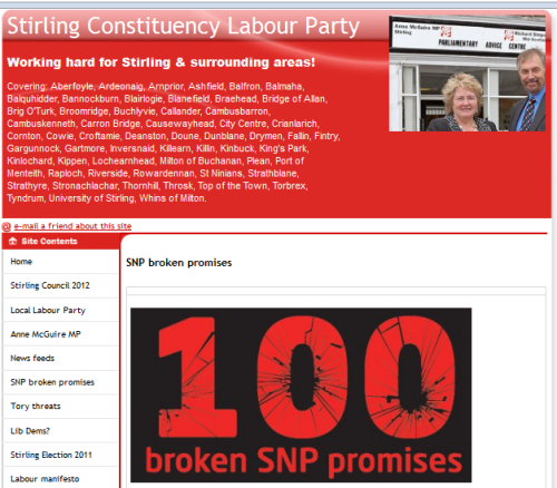 What Stirling Labour think of the SNP