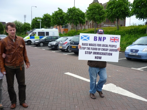BNP protester at KFC Meadowbank
