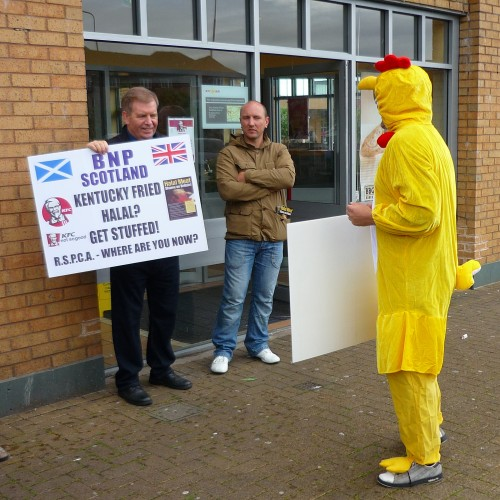 BNP protesters at KFC Meadowbank