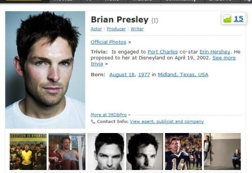 Brian Presley on IMDB