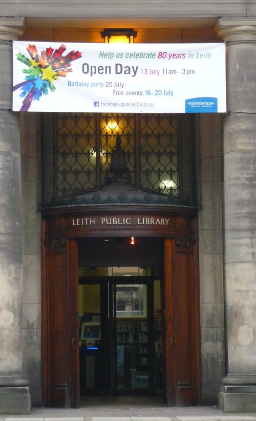 Leith Library Front Door