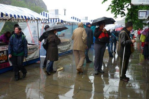 Farmers Market in the rain