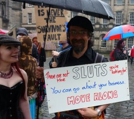 Edinburgh Slutwalk 2012: These are not the sluts you're looking for. You can go about your business. Move along