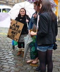Edinburgh Slutwalk 2012: I am human not an object