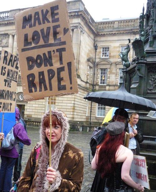 Edinburgh Slutwalk 2012; Make Love Don't Rape