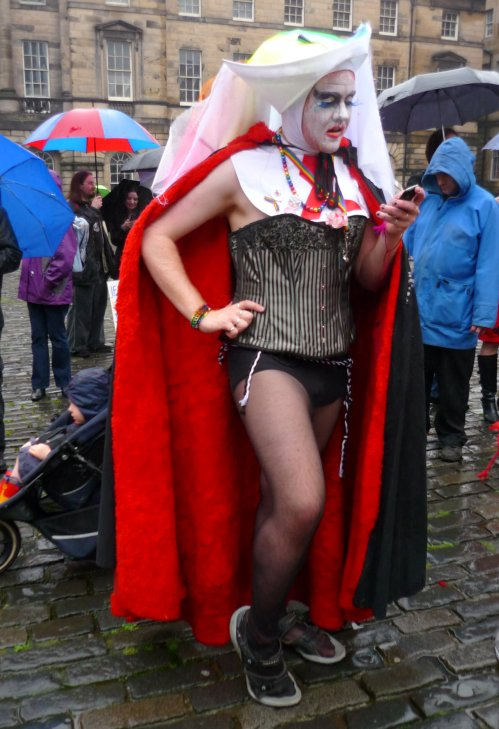 Edinburgh Slutwalk 2012; A Sister of the Order of Perpetual Indulgence