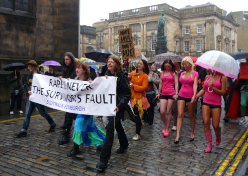 Edinburgh Slutwalk 2012: Setting off down the Royal Mile