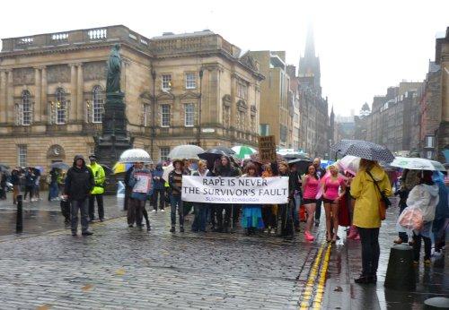 Edinburgh Slutwalk 2012: Parliament Square, in the rain