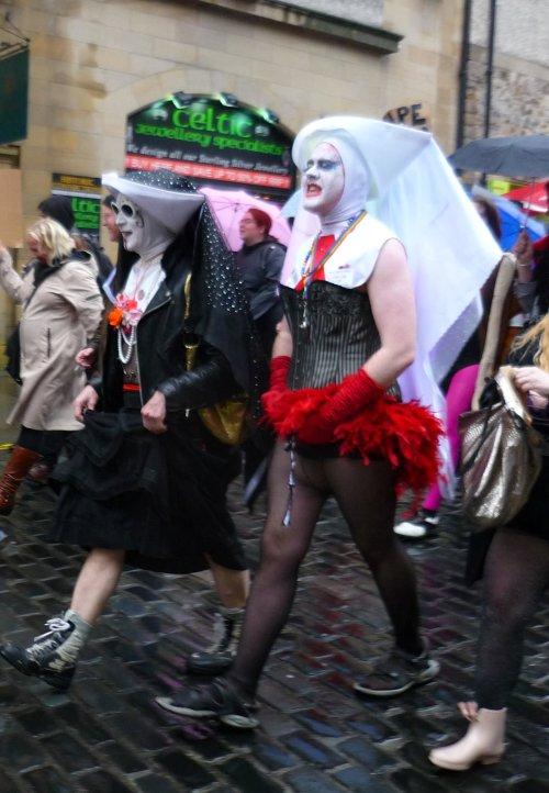 Edinburgh Slutwalk 2012: nuns on the march