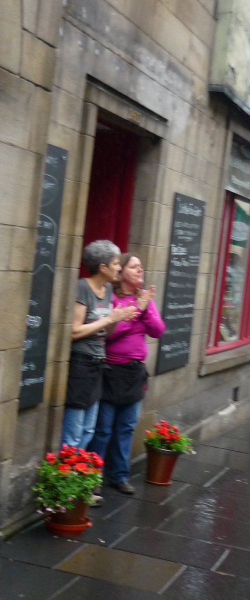 Edinburgh Slutwalk 2012: women applaud us