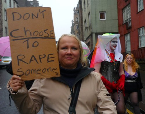 Edinburgh Slutwalk 2012: Don't Choose Rape