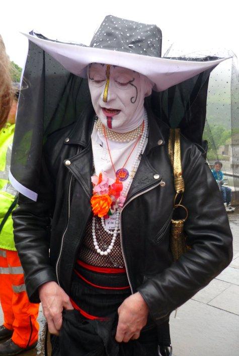 Edinburgh Slutwalk 2012: Sister Pronuptia of the Splattered Veil