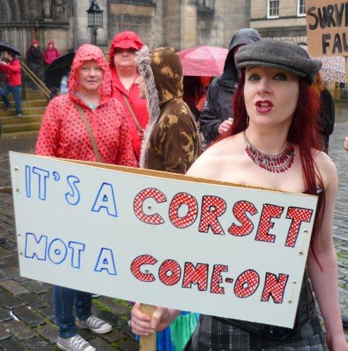 Edinburgh Slutwalk 2012: It's a corset, not a come-on