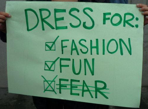 Edinburgh Slutwalk 2012: Dress for fun Dress for fashion Don't dress for fear