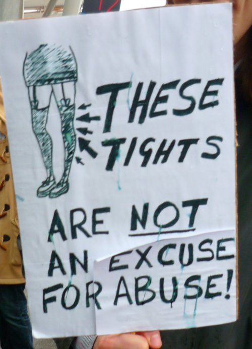 Edinburgh Slutwalk 2012: These tights are not an excuse for abuse