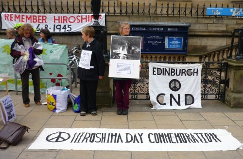 Hiroshima Vigil 2012 in Edinburgh