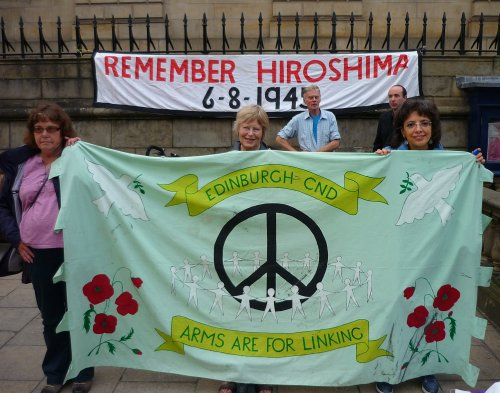 Edinburgh CND at Hiroshima Vigil 2012