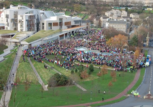 The STUC rally on 30th November 2011