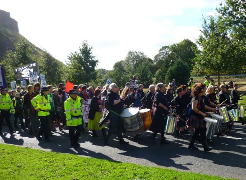 The anti-SDL march reaches the Scottish Parliament