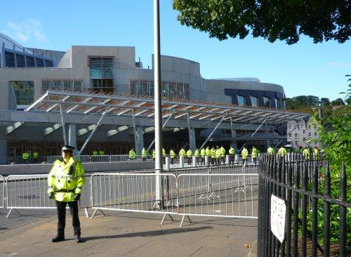 The anti-SDL march reaches the Scottish Parliament