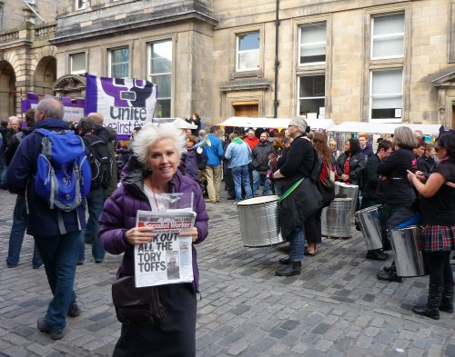 The anti-SDL march on the High Street