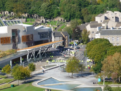 The SDL rally outside the Scottish Parliament, 29th September