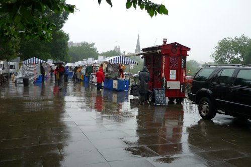 Farmer's Market in the rain - July 2012