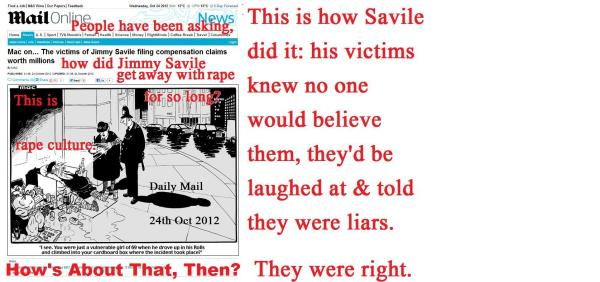 Rape Culture, or how Jimmy Savile got away with it.