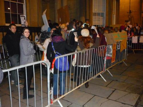 Edinburgh Abortion Rights protest - outside Merchants Hall