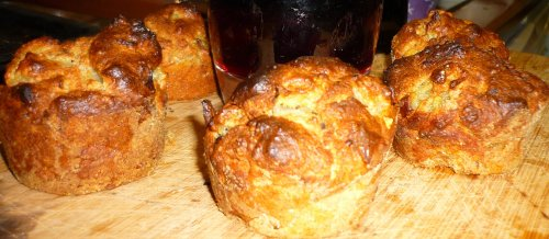 Pear and blue cheese scones