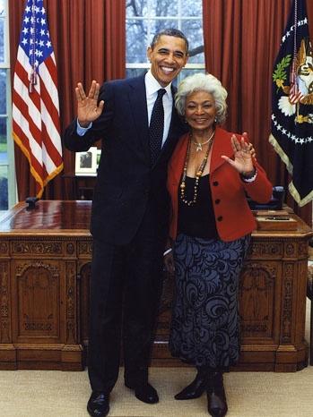 Nichelle Nichols & Barack Obama