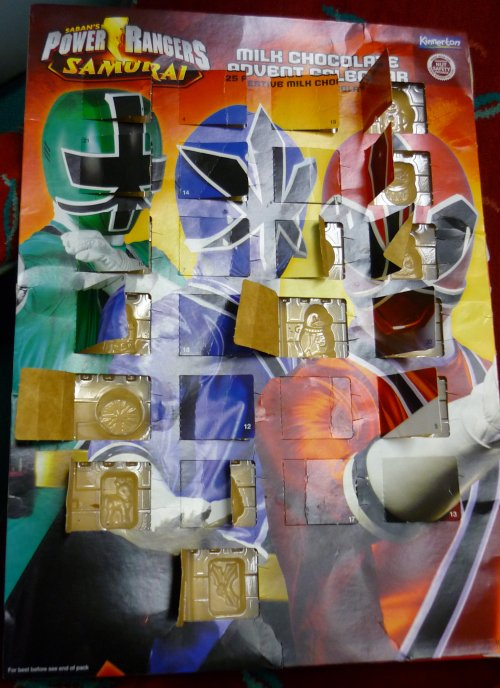 Mighty Power Rangers Samurai advent calendar