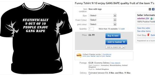 Tshirt for sale on ebay