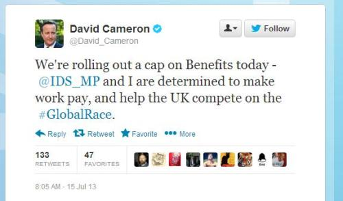 David Cameron's tweet about working with IDS_MP