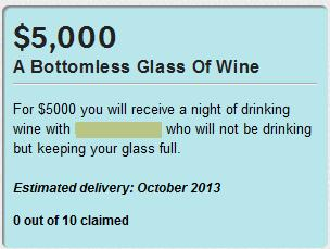 A bottomless glass of wine