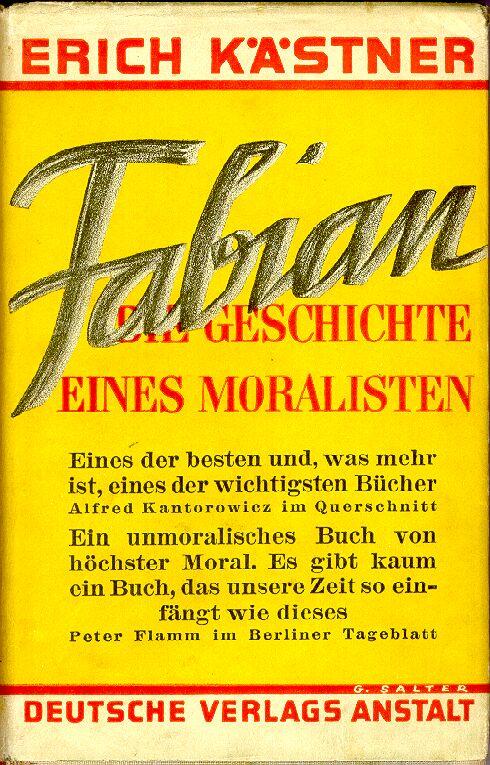 Fabian. Die Geschichte eines Moralisten by Erich Kästner