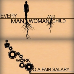 Human rights: fair salary