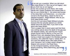 What Mehdi Hasan said on Question Time